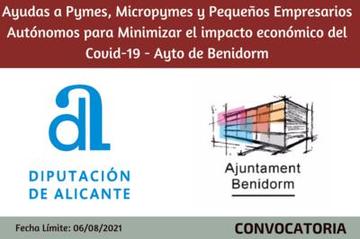 Ayudas a Pymes, Micropymes y Pequeños Empresarios Autónomos para Minimizar el impacto económico del Covid-19