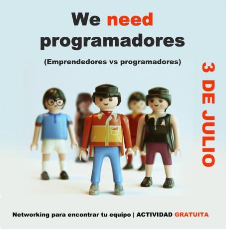 La actividad WE NEED PROGRAMADORES supera todas las expectativas de participación