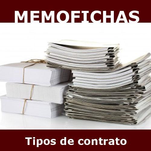 TIPOS CONTRATO memofichas