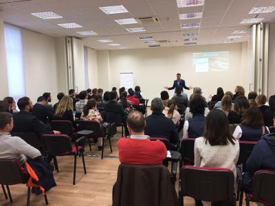 Pablo Soler, formador y asesor de Level UP, en una conferencia