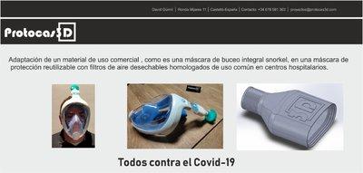 Convertir máscara de Snorkel en Equipo de Prevención Individual (EPIs) y dispositivos CPAP
