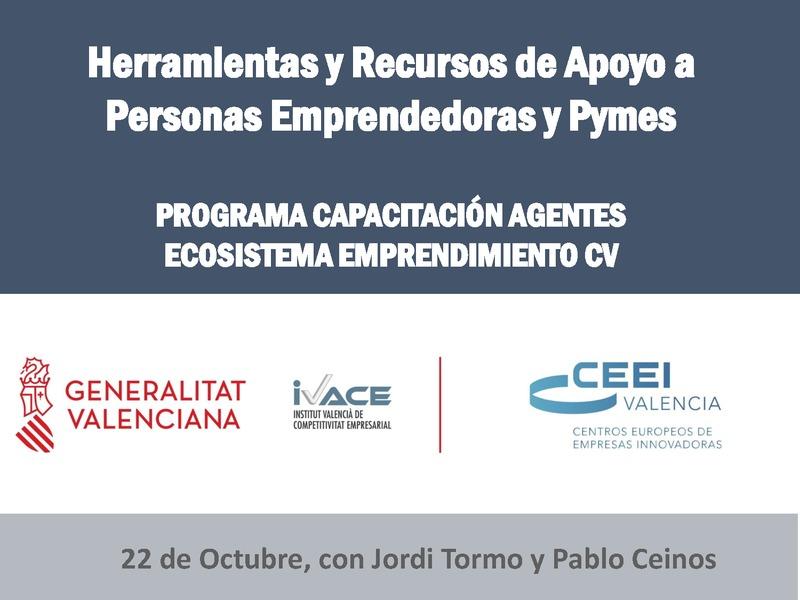 Presentación Herramientas y recursos CEEI de apoyo a los emprendedores y empresas