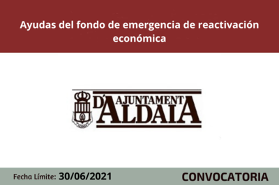 El Ayuntamiento de Aldaia aprueba las ayudas del fondo de emergencia de reactivación económica