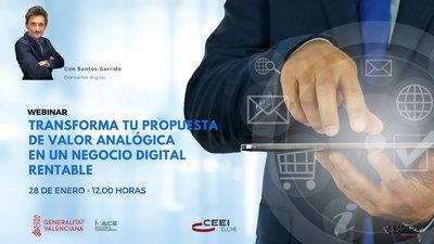 Transforma tu propuesta de valor analógica en un negocio digital rentable