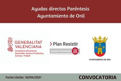 Ayudas Económicas Covid 19 - Ayuntamiento de Onil