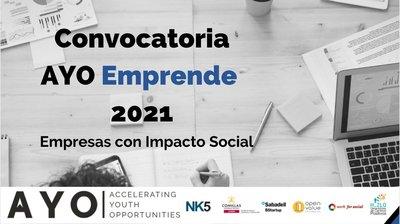 Convocatoria Programa AYO Emprende 2021