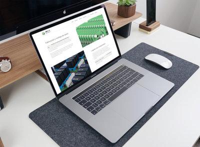 Ejemplo diseño web para una joven startup