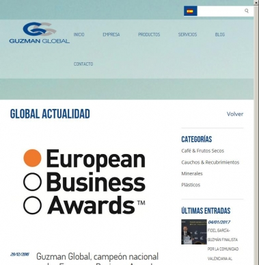 Guzman Global, campeón nacional en los European Business Awards 2016/17